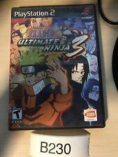 Naruto Ultimate Ninja 3 Sony PlayStation 2 PS2 Tested No Manual Fast ship