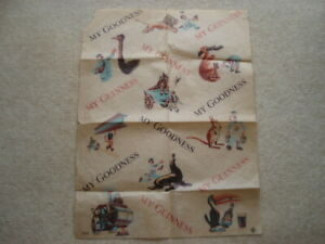 SCARCE C1950S VINTAGE MY GOODNESS MY GUINNESS WRAPPING PAPER
