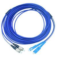 50M Armored Cable SC to FC SM 9/125 Duplex Fiber Optical Patch Cord Single Mode