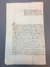 "JESUIT ANTIQUE MANUSCRIPT ANCIENT DOCUMENT ""REX POLONIA"" WITH STAMP 1743 YEAR"