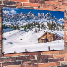 "Impresionante Montaña Ski Lodge caja impresa cuadro lienzo A1.30""x20""30mm Marco Profundo"