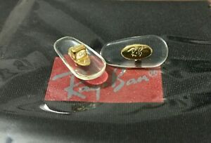 New Ray Ban Glasses NOSE PADS Plug-In Gold color core 15 mm.