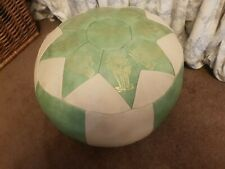 Modern Leather Pouffe Used