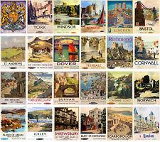 24 Postkarten Set * Retro British Travel Posters Railways Towns CC1054