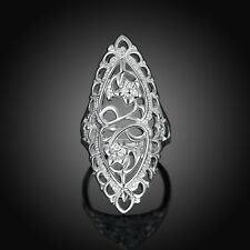 2017 925 sterling Solid silver Classical carved rings size10 #217
