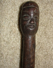 Chief King Chieftains Staff Sceptre Baton African Fang Zulu Statue Congo Zaire