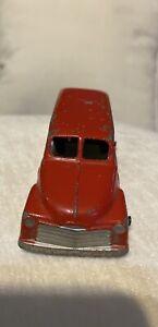 "Vintage 1950's Tootsietoy 3"" Inch 1950 Chevy Panel Van Red"