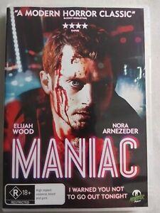 MANIAC 2012 DVD Horror Thriller Elijah Wood FREE POSTAGE