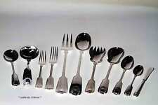 11 -pc  Silver Place Setting Fiddle Thread & Shell