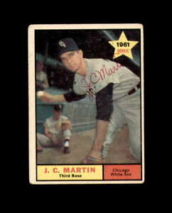 J.C. Martin Hand Signed 1961 Topps Rookie Chicago White Sox Autograph