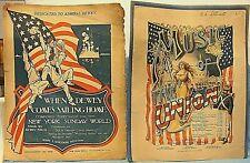 1898 & 99 SPANISH AMERICAN WAR SHEET MUSIC MUSIC OF THE UNION,WHEN DEWEY COMES++