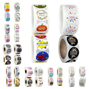 Vintage Flower Thank You Stickers Business Kids Handmade Reward Seal Labels Toys