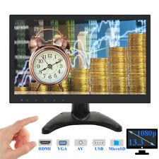 "13.3"" IPS LCD Monitor 1080P PC CCTV Bildschirm HDMI/VGA/USB/MicroSD/AV Speaker"