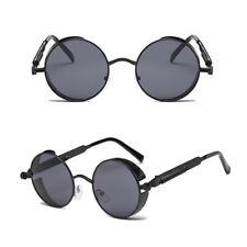 Para Hombre Estilo Retro Vintage polarizadas Steampunk Gafas De Sol De Moda Redondo Con Espejo UV400