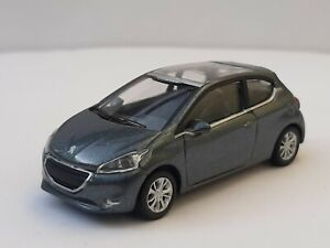 Norev 3 inches 1/60.  Peugeot 208 Mk1. Gris anthracite.  Neuf en boite