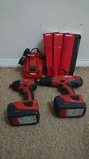 Hilti sfh22-a and sid22-a, two 5,2ah Batterys And Charger