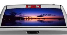 Truck Rear Window Decal Graphic [Nature / Clear Lake] 20x65in DC17803