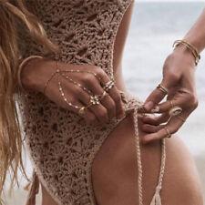 Women Bandage Bikini Crochet Pushup Padded Bra Swimsuit Bathing Suit Swimwear hj