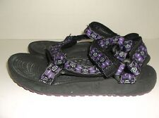 Teva Walking Hiking Sandals size 4 Black Purple Gray