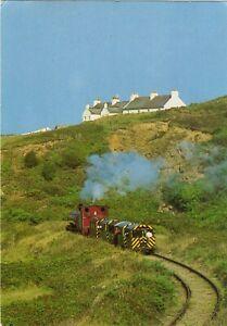 Alderney Railway-Train heading towards Mannez Quarry early 1980s(pub.Dixon 7259)