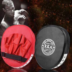 2Pcs Boxing Focus Pads Hook Jab Mitts Kick Target Martial Arts Fight Training
