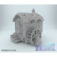 Winterdale Water Mill  28mm Tabletop Games Dwarven Forge D&D Terrain Wargaming