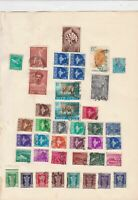 india stamps on album page ref r9414
