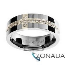 Diamond Set Tungsten Carbide Band Mens Ring Size W 1/2 11.5 81153WX