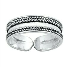 Bali Design Toe Ring Genuine Sterling Silver 925 Adjustable Face Height 5 mm