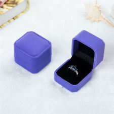 Velvet Engagement Wedding Earring Ring Pendant Jewelry Display Chic Box Purple