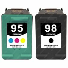 2pk Remanufactured Ink Jet Cartridges for HP 95/98 for OfficeJet H 470 Printer