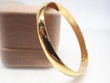 Mesdames enfant en or jaune 18 carats solide bracelet rond 60mm