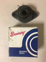 "Browning VF2E-210 2 Bolt Flange Mount Ball Bearing Unit 5/8"", New, Free Shipping"