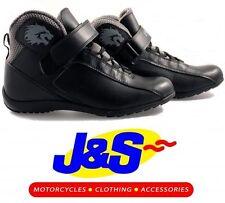 BKS K03 PACER SHORT SUMMER ANKLE MOTORCYCLE BOOTS MOTORBIKE BLACK J&S