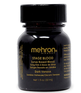 MEHRON STAGE BLOOD_FAKE BLOOD MAKEUP _DARK VENOUS_TV MOVIE SPECIAL EFFECTS _I OZ