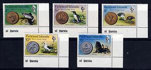 FALKLAND ISLANDS QE II 1975 New Coinage Set SG 316 to SG 320 MNH