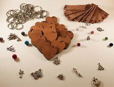 Bulk 26 PC Leather Key Chain.Custom Engraved. Holiday, Wedding, Party, Business.