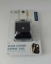 Penguin Vegan Leather Case For Airpods 1st Gen & Airpods 2nd Gen Black New