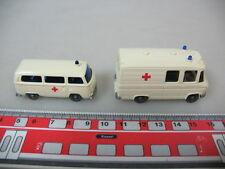 h351-0, 5 #2x Wiking H0 278 Mercedes MB L 406, 320 Volkswagen T2, Ambulance
