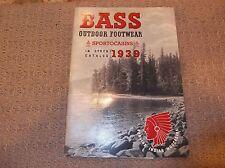 1939 BASS OUTDOOR FOOTWEAR IN STOCK CATALOG SPORTOCASINS G. H. BASS & CO