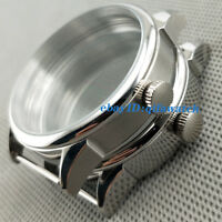 42mm Polished/Brushed Stainless Steel Case Kit 6497/6498 Seagull ST36 Men Watch