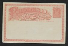 E6318 Rhodesia 1904 1d Postal Stationery Card MINT CONDITION