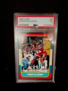 1986 Fleer Akeem Olajuwon Rookie Card #82 PSA 7 NM