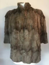 VINTAGE 193-50'S SOFT BROWN REAL FUR CLASSIC CAPE SHRUG