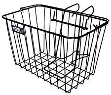 Adie Bicycle Front Wire Basket in Black Standard With Metal Holder MTB Road