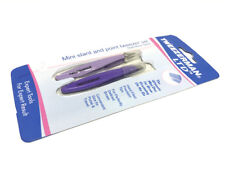 Tweezerman Set of 2: Mini Slanted / Pointed  Tweezer Lilac and Purple : Free p&p