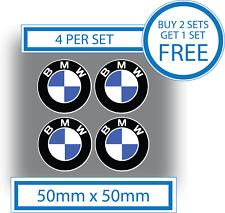 4 x BMW Stickers BMW Logo Decals 50mm Vinyl Car Motorbike Badges Waterproof