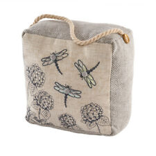 Square Dragonfly Doorstop with Rope Handle Gifts for Home Grey Tweed Effect