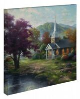 Thomas Kinkade Streams of Living Water 20 x 20 Gallery Wrapped Canvas
