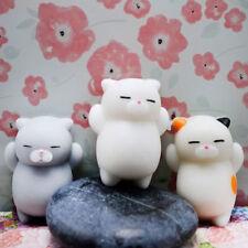 3Pcs Cute Mochi Squishy Cat Squeeze Healing Fun Kids Kawaii Toy Stress Reliever
